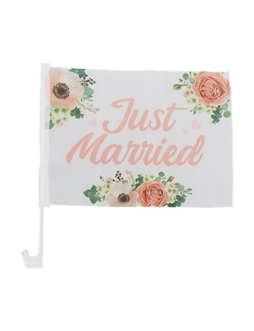"""Vlag """"Just Married"""""""
